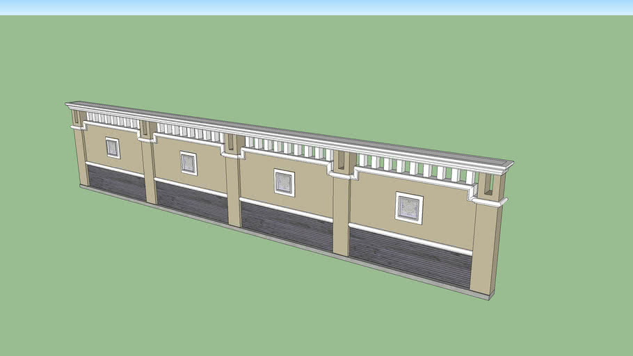 Pagar Tembok Gaya Klasik 3d Warehouse