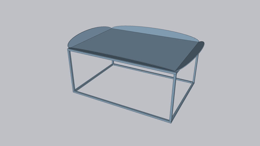 Floret L_Coffee table_Serenity Blue