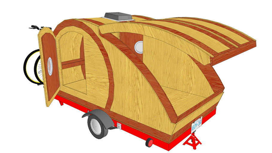 Teardrop Camper Complete Model - Couple Camper