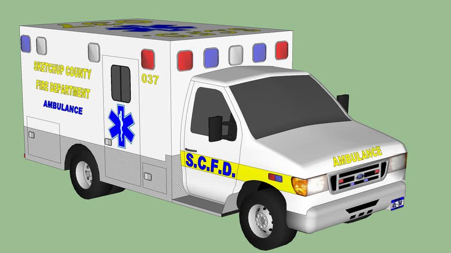Sketchup County Ambulance 037