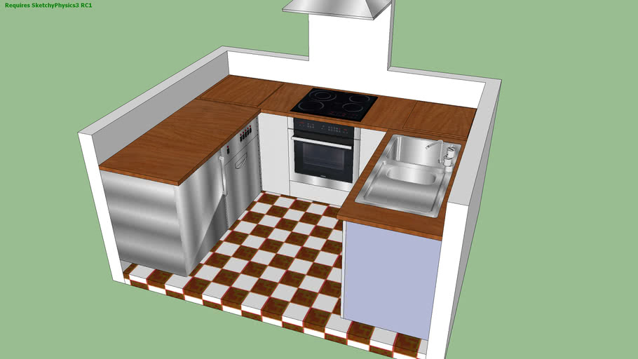 sketchy physics kitchen solution