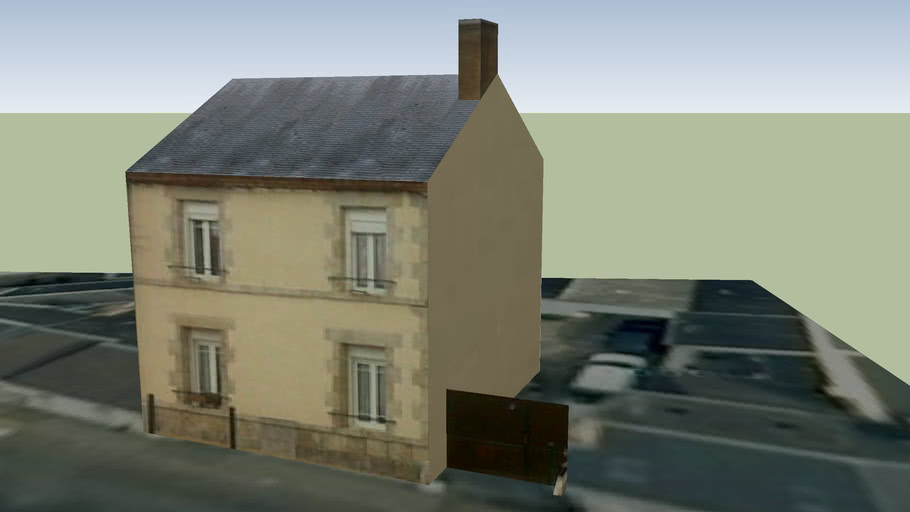 Maison de Bourg, Sandillon (Loiret), FRANCE