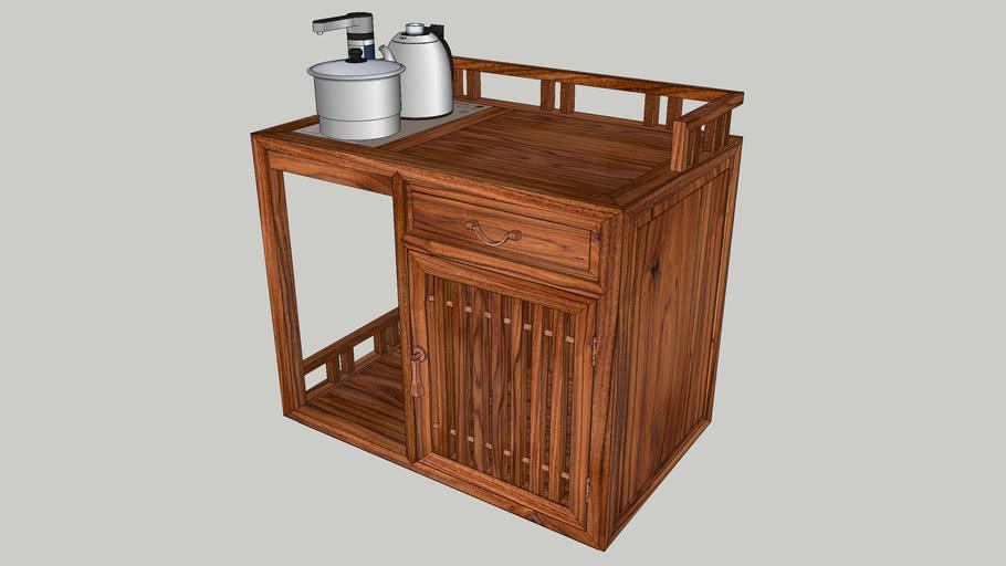 茶语森活 新中式红木阳台休闲小茶柜