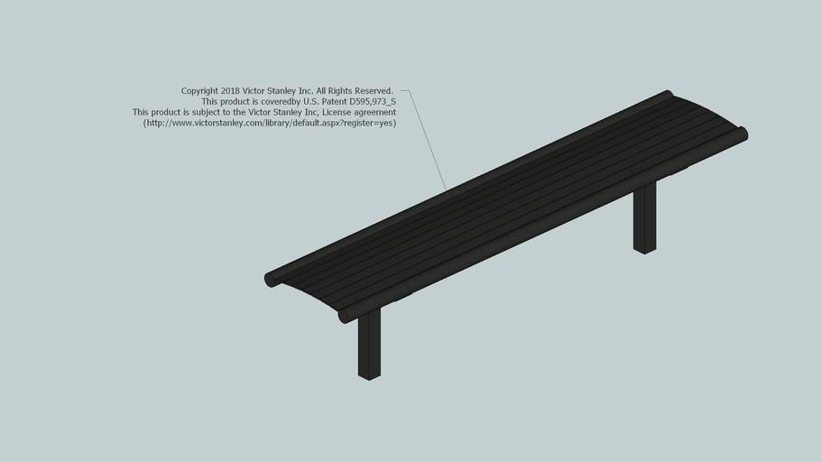 FBF-53 Streetsites™ 6ft Backless Steel Bench (In-ground Mount)