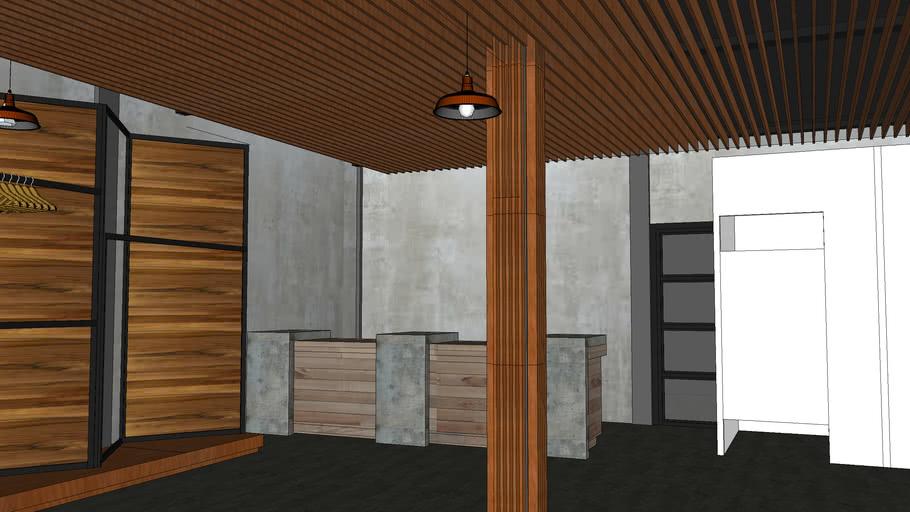 interior butik (bujur sangkar studio)