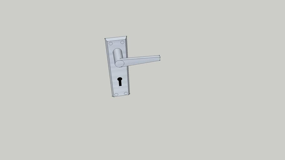 anodised aluminium door handle