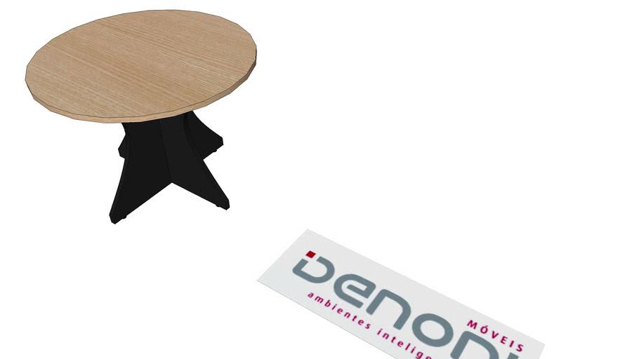 mesa de reunião redonda 100x74 pé painel