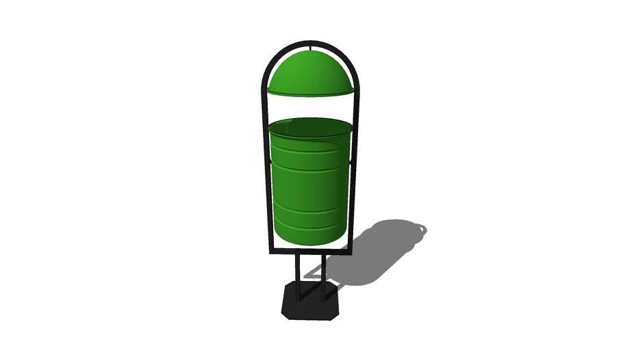 Урна 115/ Urn turning trashcan rounding tipping 115