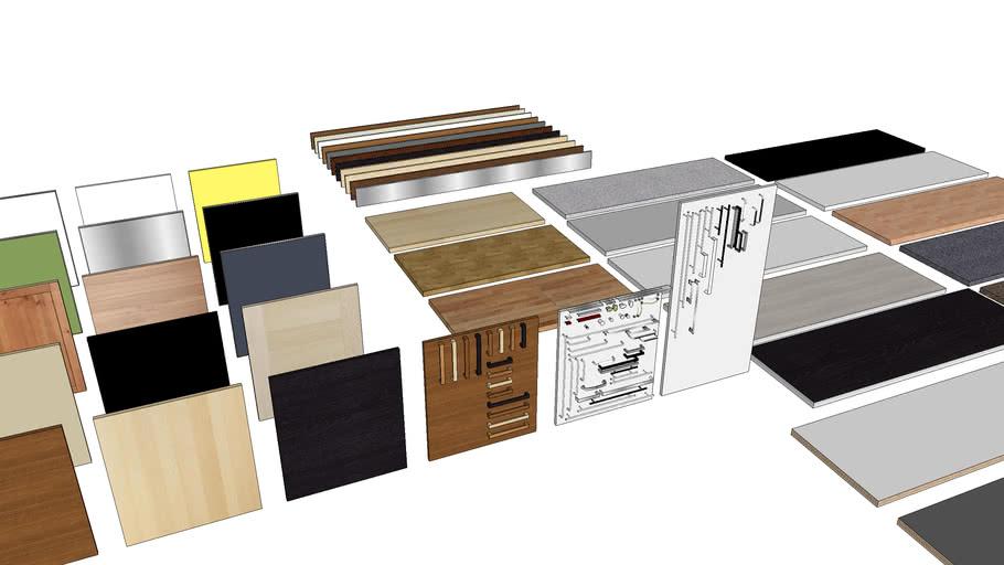 IKEA kitchen doors, worktops, kickboards & handles