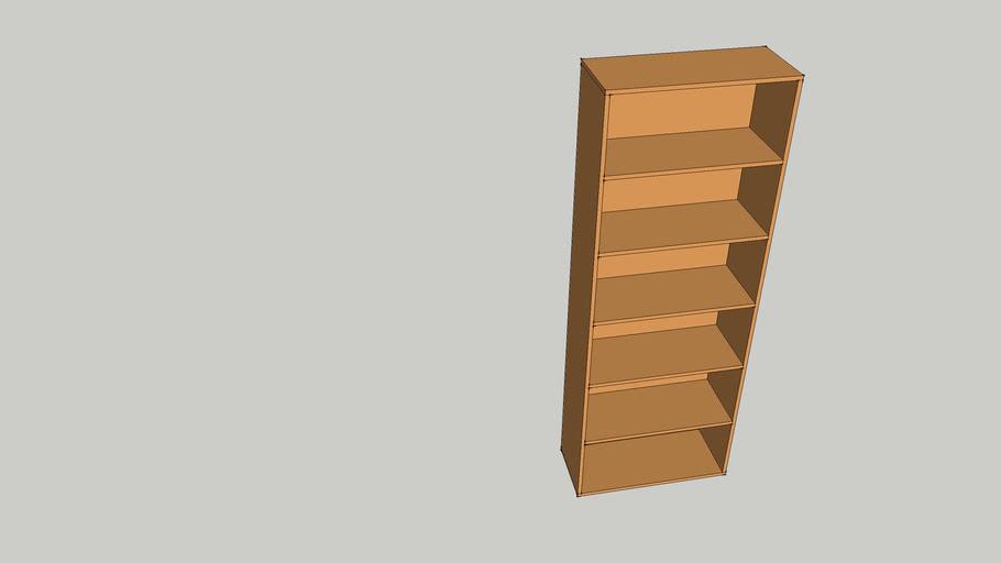 5 Shelf Bookcase 2100x770x330mm