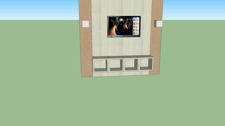 painel com tv