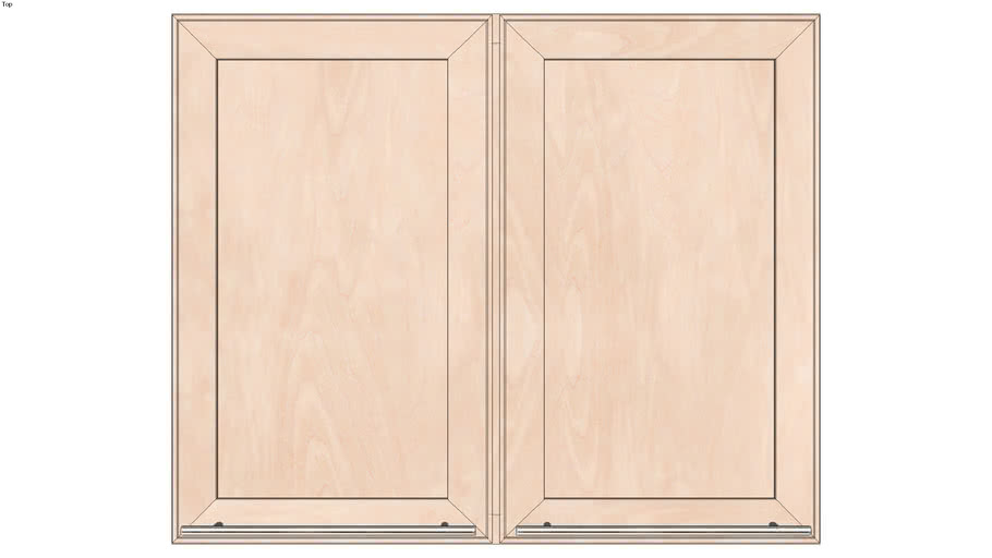 Wall Double Door 27Hx15D