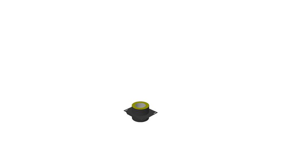 3150160 - Ø150/50 Base for veggbrakett sort
