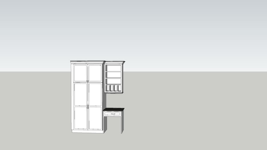 Kitchen Pantry And Desk 3d Warehouse
