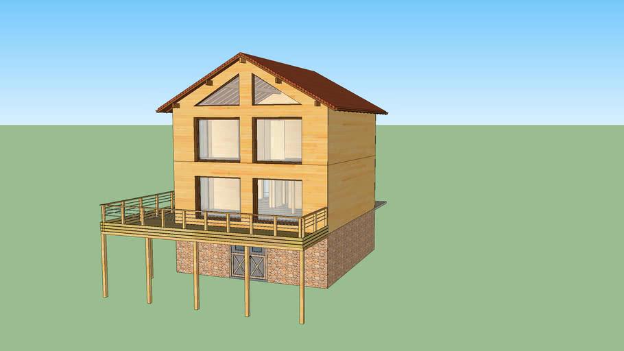The Larch House Model - Aquitaine Vistas