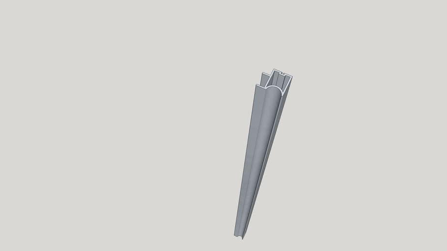 Profile for sliding door - perfil para porta de correr