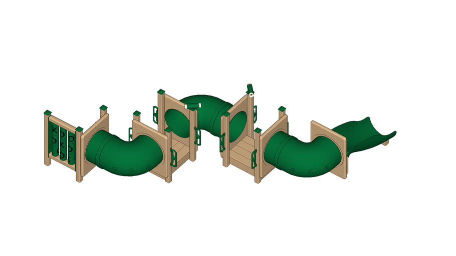 TODDLER TUNNEL MAZE Playground Equipment by Play Mart - Mini