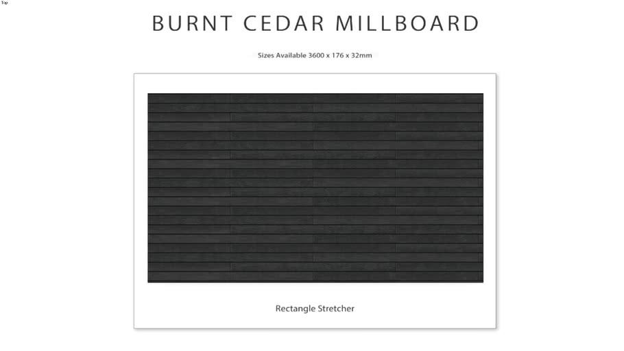 Burnt Cedar Millboard