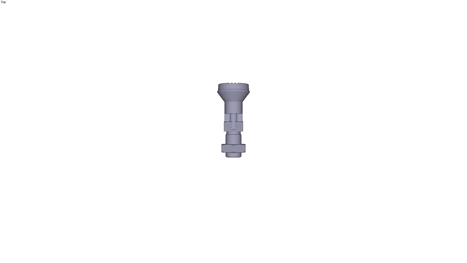 Index pin with plastic head finish stainless steel treated indexing pin form D - M16 x15