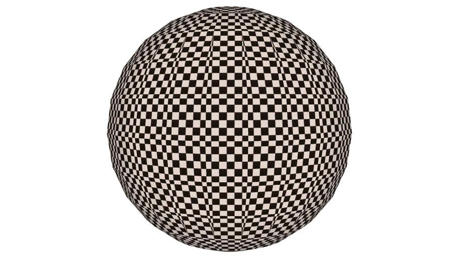 Black & White Checkerboard Sphere