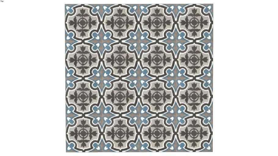 Lille Fonce 15 15 Carreaux De Ciment Ciment Tiles Des Carrelages Du Marais 3d Warehouse
