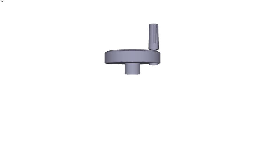 Handwheel with revolving grip - size 2 Ø 12 mm ext. Ø 100 mm