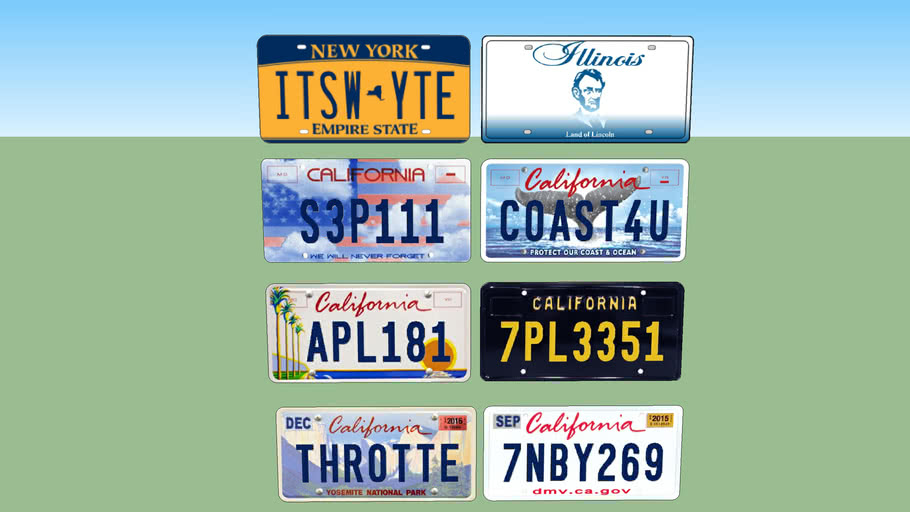 USA license plates