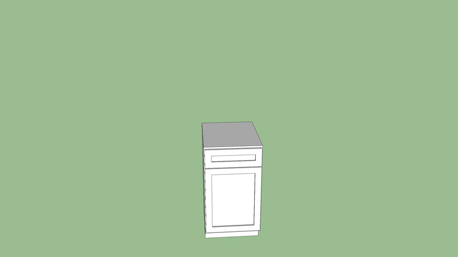 Garbage can base cabinet
