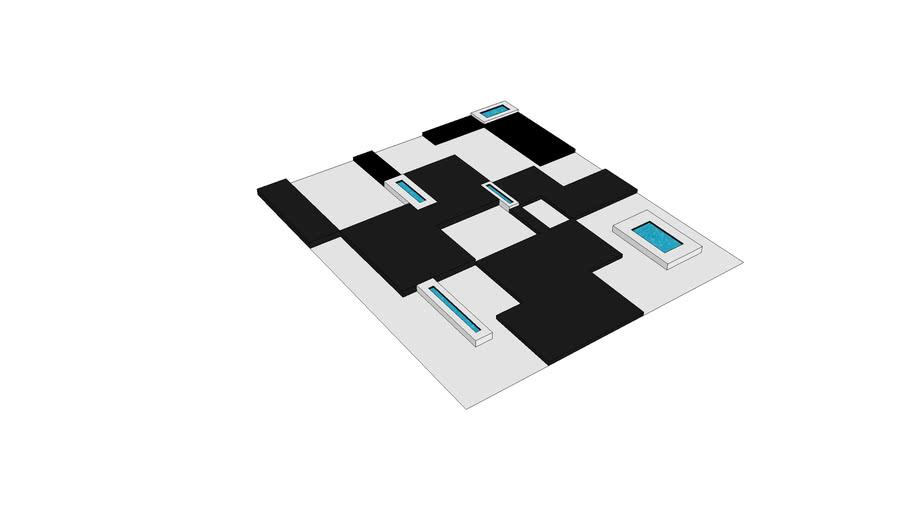 Cross Chessboard Pool