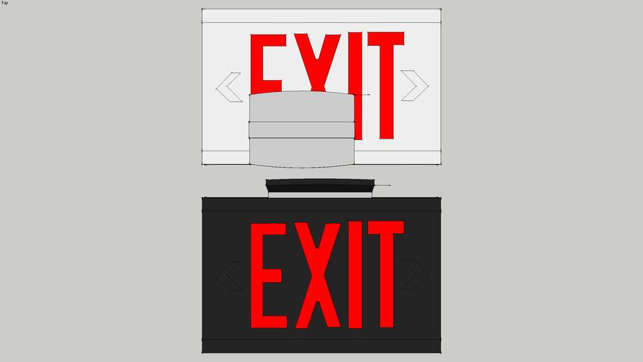 Dual Lite Liteforms Exit sign