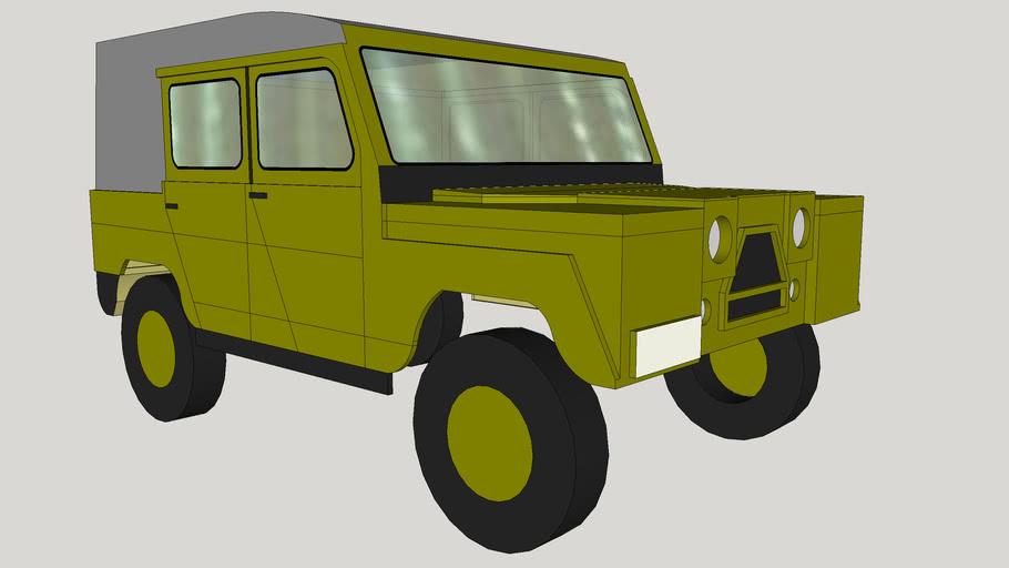 UAZ-460 1/12th scale RCar shell for WPL JJRC 260 Chassis