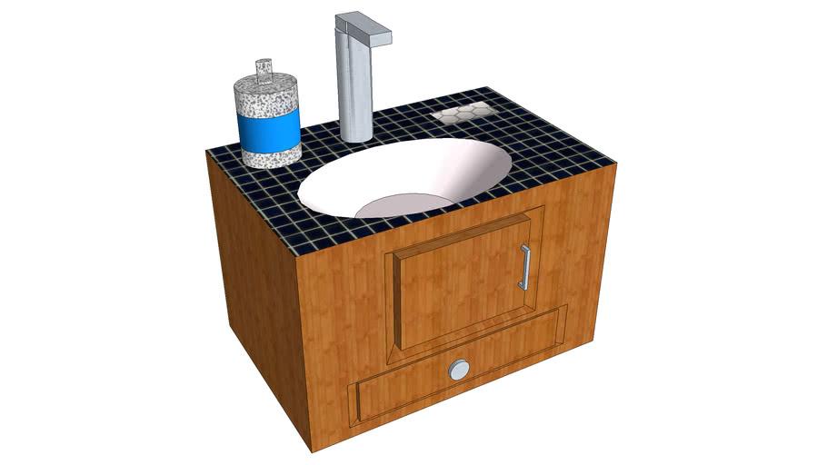 Sink- Navy Tile