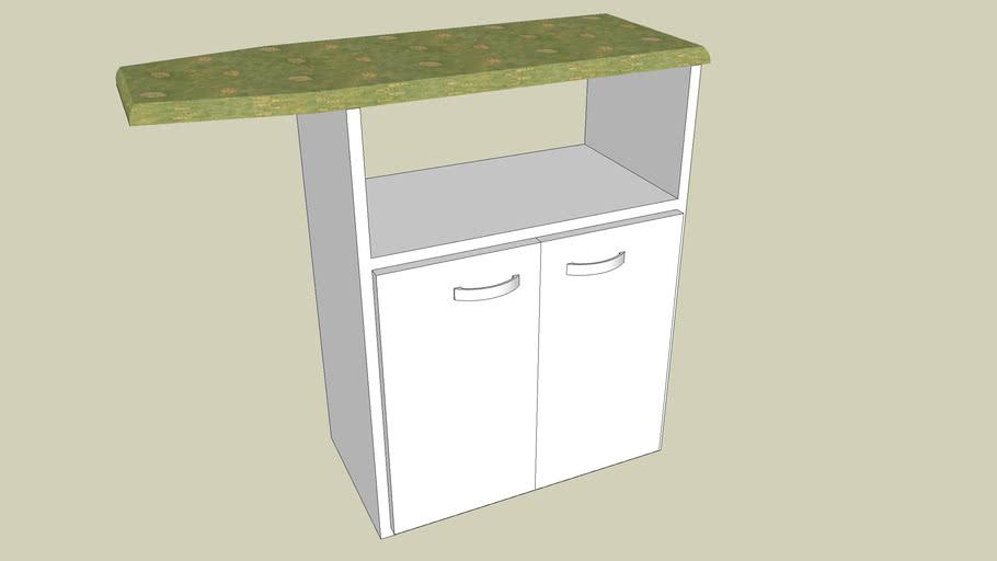Mueble con tabla de planchar