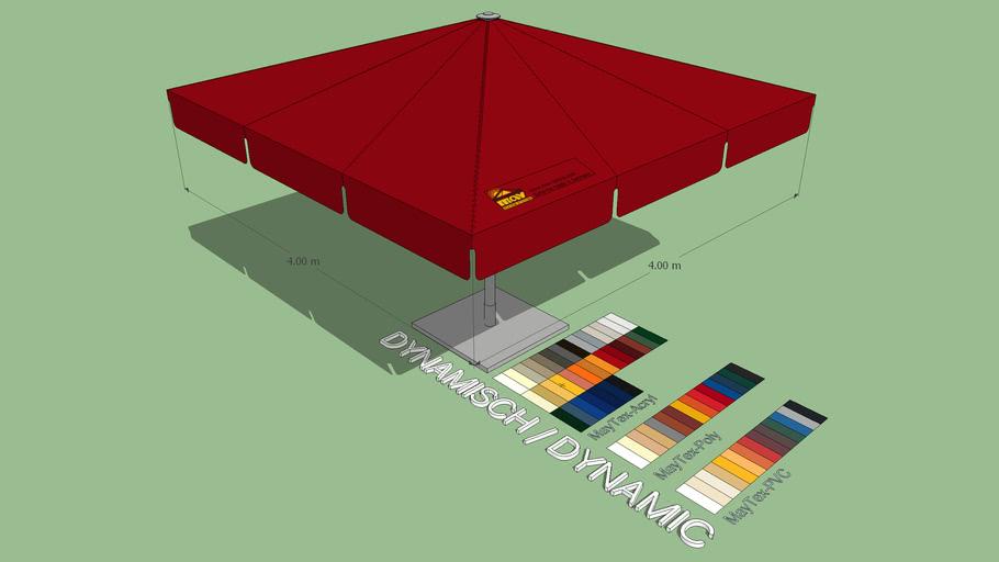 May Albatros 4x4m Square Giant Umbrella