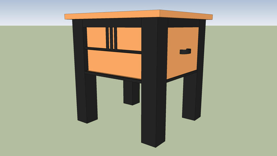 Soho Side Table With Drawer