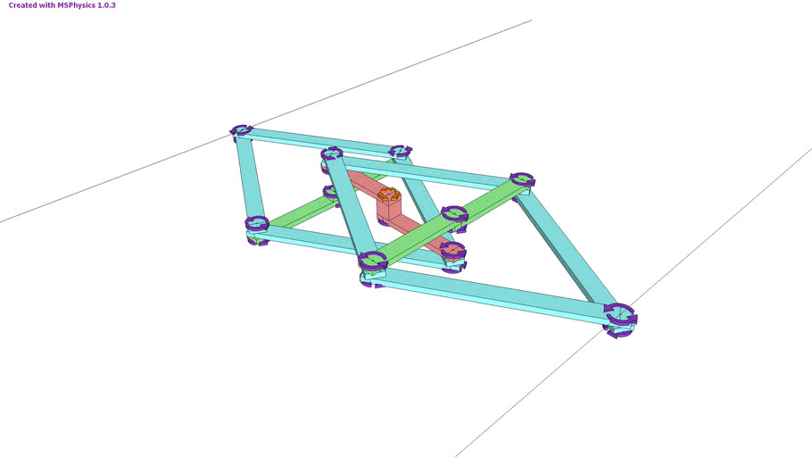 MSPhysics double reverse Peaucellier