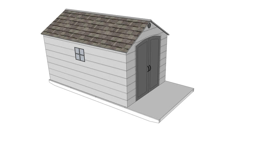 Lifetime Shed and Shed Base