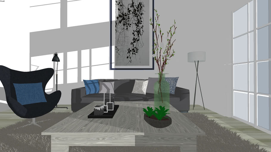 Modern Living Room 3d Warehouse