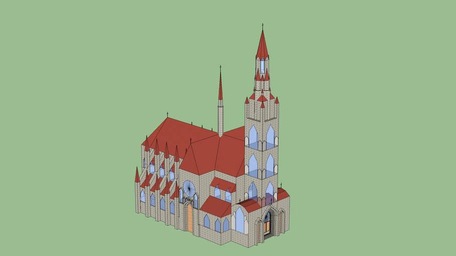 Große gotische Kirche
