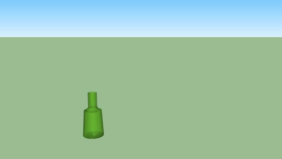 groene doorschijnende vaas