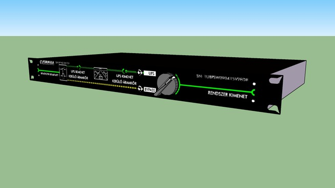 """19"""" rackmount 1 unit 32A/3p bypass swith"""