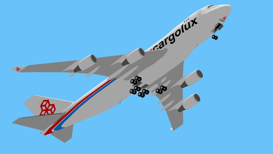 Cargolux Boeing 747-400F Despegando desde Latacunga, Ecuador.