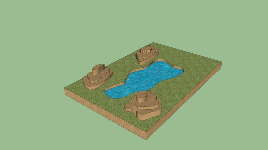 pond with rocks v1