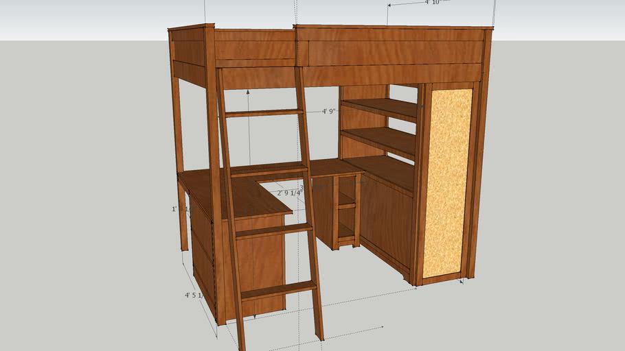 Loft Bed and Desk Design