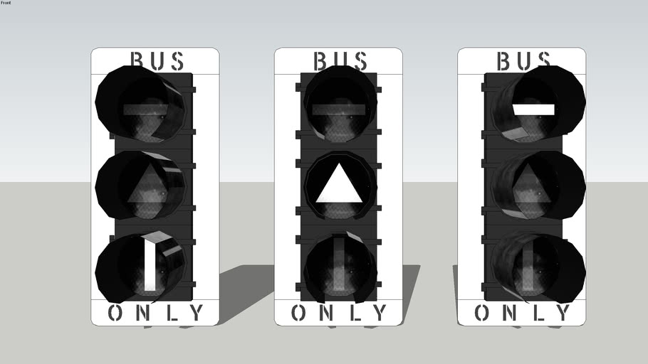 White-Backplated Bus Transit signals (California)
