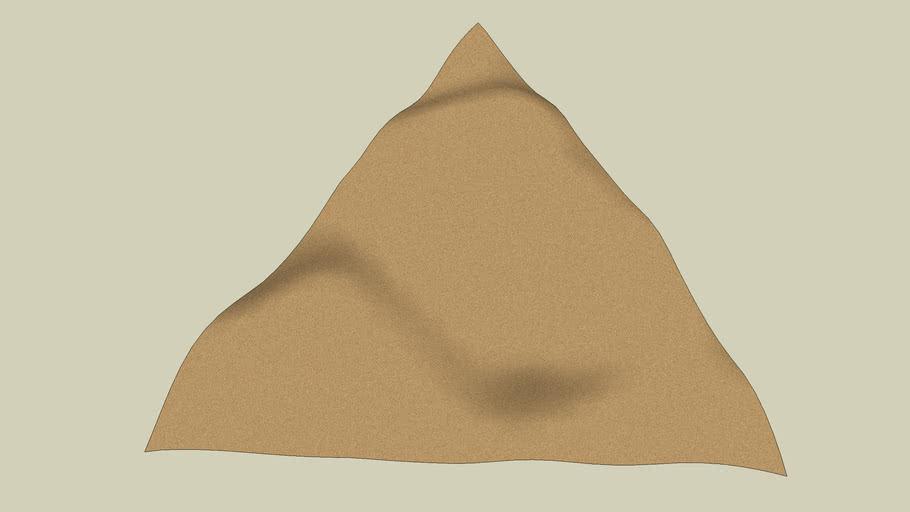 Triangular Sand Dunes Terrain