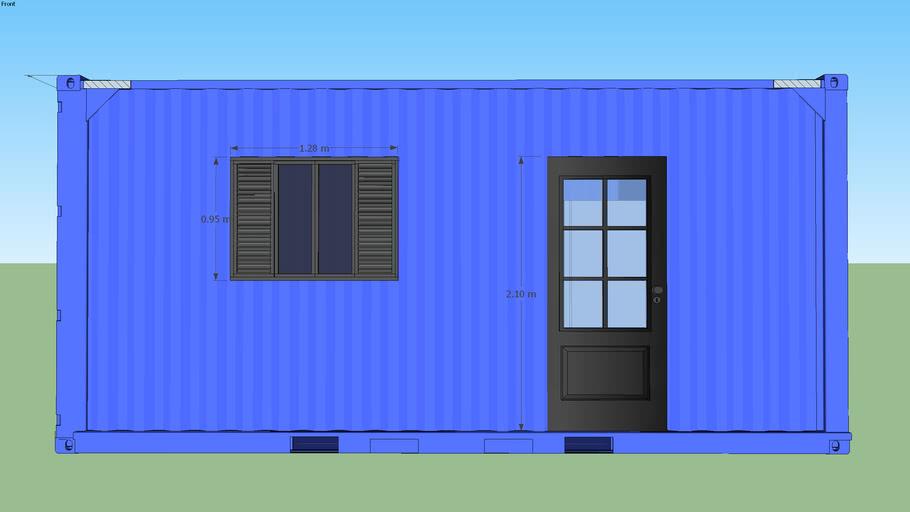 Container 20 pés modelo Basico