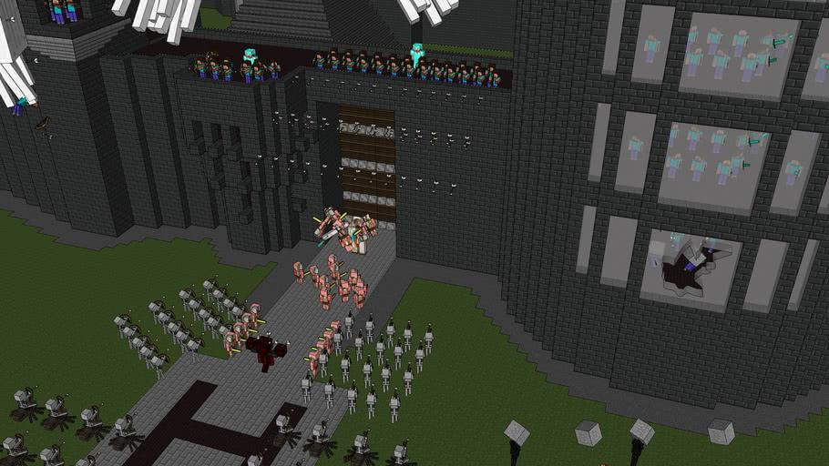 Minecraft battle 1
