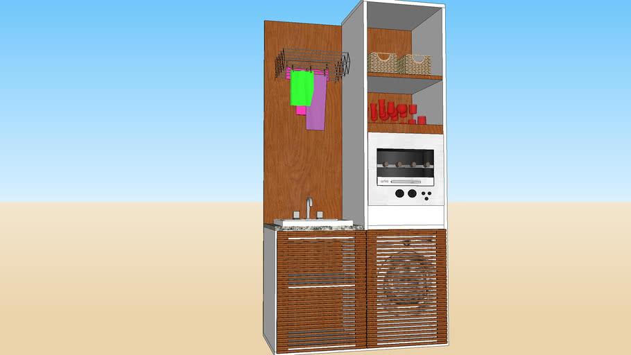 Lavanderia com Churrasqueira Elétrica