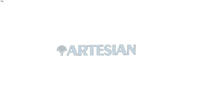 logo 3D artesian